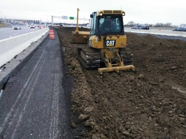 Crews are working to create a new median on the President George Bush Turnpike. (Courtesy North Texas Tollway Authority)