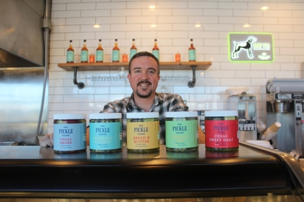 Sam Addison is founder and owner of The Pickle House. (Olivia Aldridge/Community Impact Newspaper)