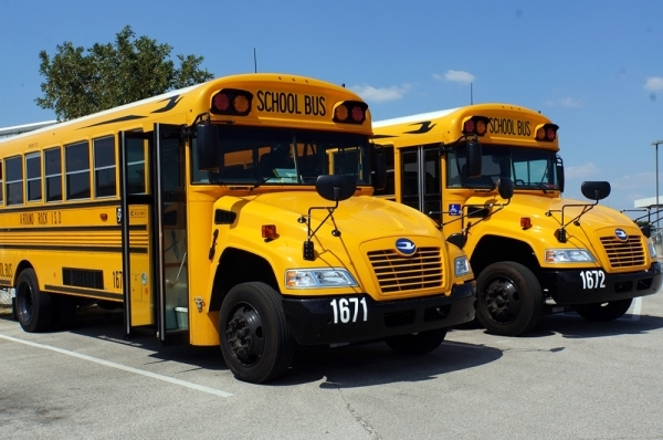 Round Rock ISD began implementing the program on campuses in fall 2019, with campuses added every few weeks to the busing system. (Courtesy Round Rock ISD Transportation Department)