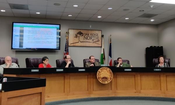 The Oak Ridge North City Council met for a regular meeting Feb. 24. (Ben Thompson/Community Impact Newspaper)
