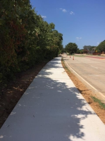 The Garden Ridge Trail is expected to be completed by the end of April. (Photo courtesy city of Lewisville)