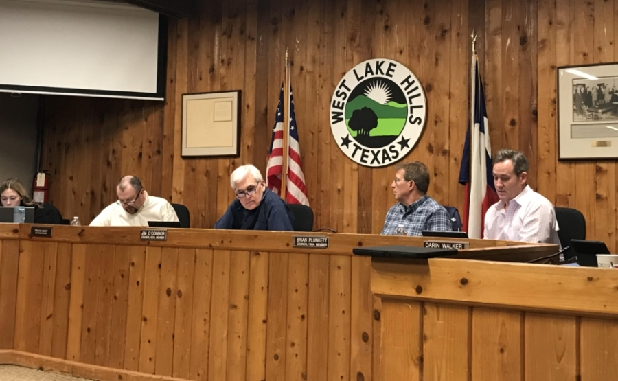 Mayor Linda Anthony and Council Members Brian Plunkett and Darin Walker were running unopposed for the May 2 ballot. (Amy Rae Dadamo/Community Impact Newspaper)