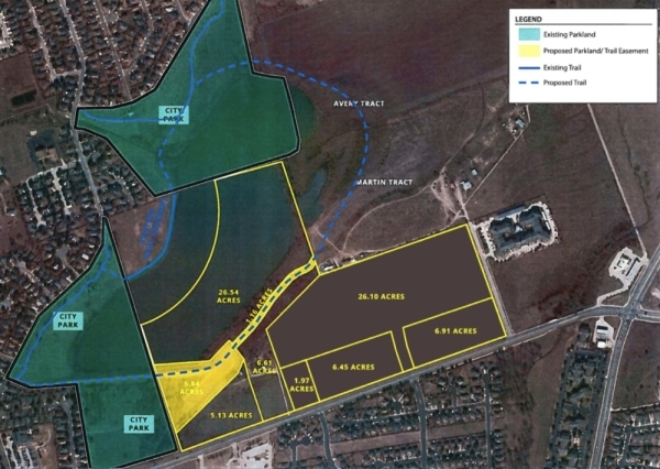 Plans to extend Meadow Lake Park in northeast Round Rock and to extend a trail further around Meadow Lake advanced Feb. 27. (Courtesy city of Round Rock)