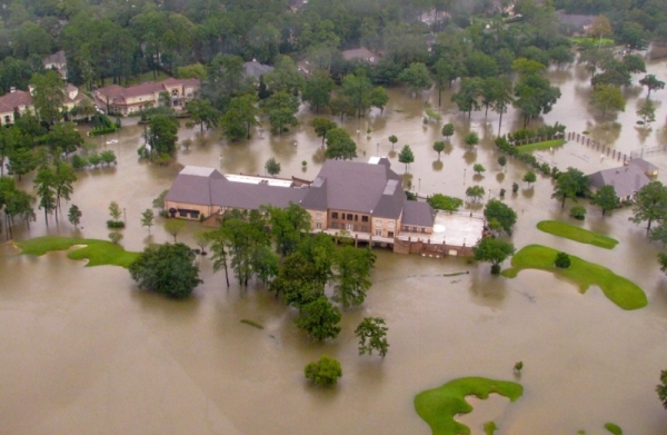 After serving as a cornerstone of the Champions community for more than 40 years, Raveneaux Country Club will soon become a regional floodwater detention basin. (Courtesy Harris County Flood Control District)