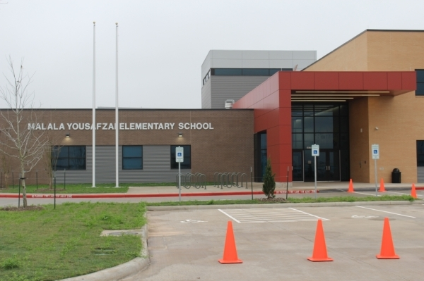 Fort Bend ISD's Malala Elementary School is located at 11770 W. Aliana Trace Drive, Richmond. (Claire Shoop/Community Impact Newspaper)