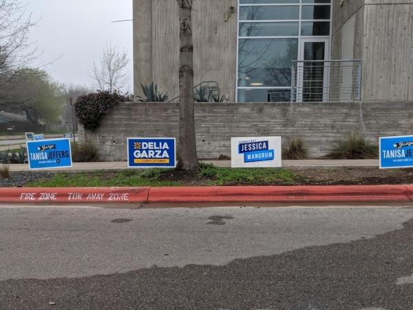 Voting location at North Austin YMCA
