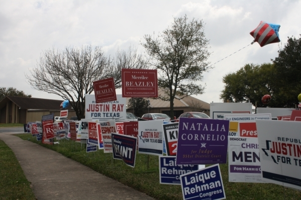 Voting took place all over Harris County today. (Shawn Arrajj/Community Impact Newspaper)