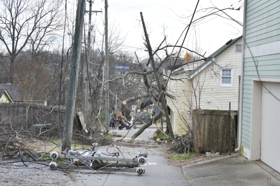 Tornadoes came through East Nashville and other parts of Middle Tennessee Monday night causing extensive damage. (Alex Hosey/Community Impact Newspaper)