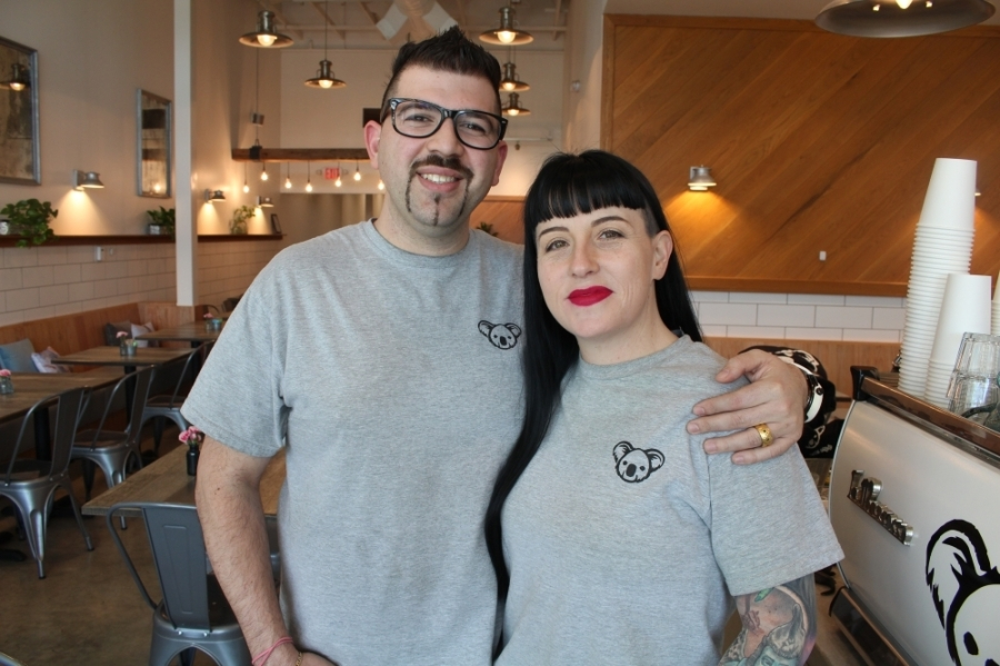 Lui (left) and Angie Monforte are the owners of The Aussie Grind. (Elizabeth Ucles/Community Impact Newspaper)