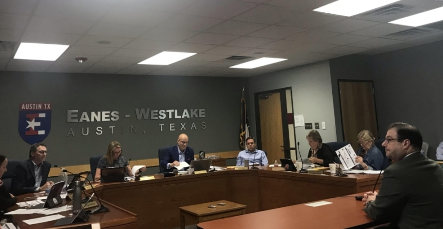 The Eanes ISD board of trustees discussed the TCAD's decision not to appraise residential properties in 2020 during a Feb. 25 board meeting. (Amy Rae Dadamo/Community Impact Newspaper)