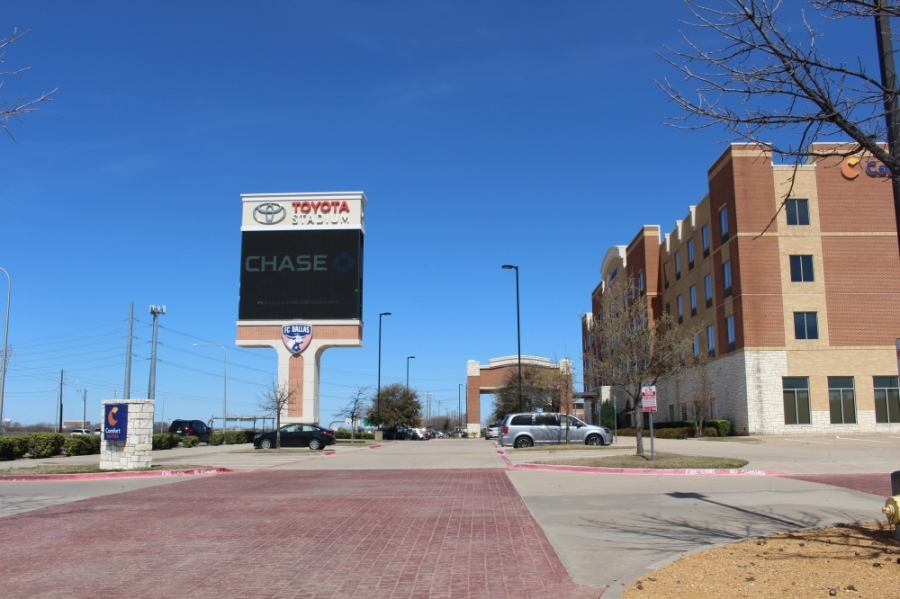 Shortly after noon, power had been restored to portions of the area around Toyota Stadium. (William C. Wadsack/Community Impact Newspaper)
