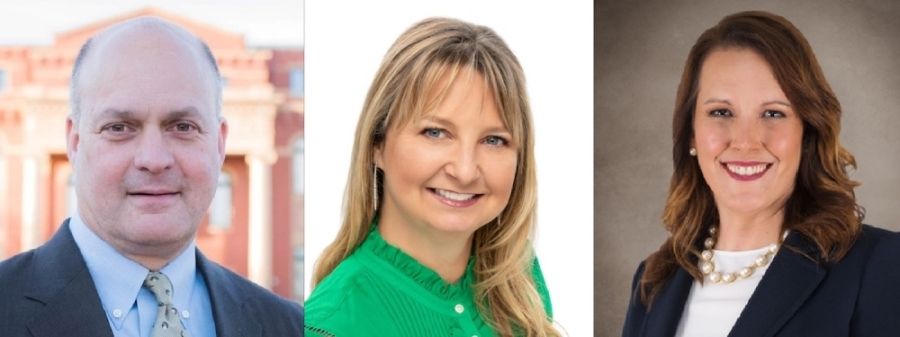 From left to right: Eric Lannen, Sheri Mills and Michelle Moore all ran unopposed in their campaign for places on the Carroll ISD board of trustees. (Courtesy Eric Lannen, Sheri Mills, Michelle Moore)