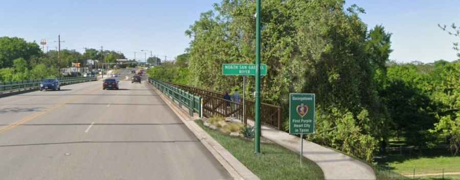 This rendering depicts a draft concept for the Austin Avenue bridges project. (Courtesy city of Georgetown)