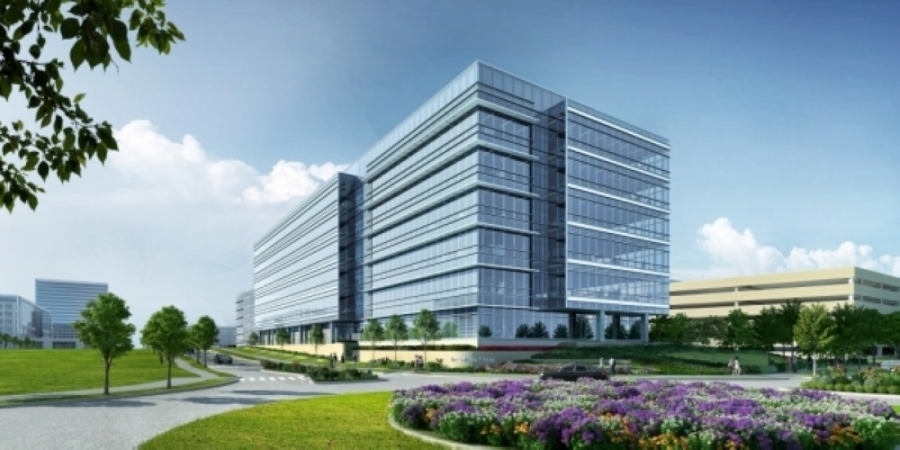The Offices Three is the third class A office development in Frisco Station. (Rendering courtesy VanTrust Real Estate)