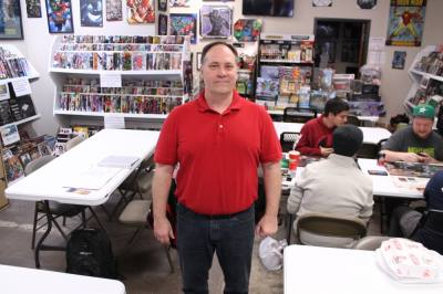 Shawn Besaw opened Sanctuary Books and Games after being a comic book fan for more than 40 years. (Photos by Lindsey Juarez Monsivais/Community Impact Newspaper)