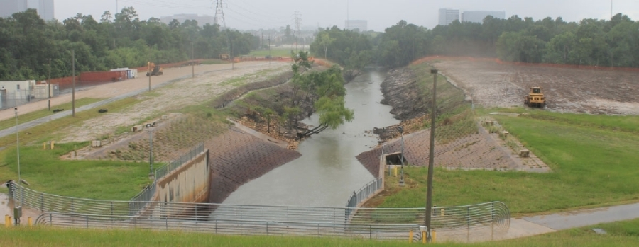 The Harris County Flood Control District is working on several desilting projects on channels that lead to the Addicks Reservoir. (Community Impact Staff)