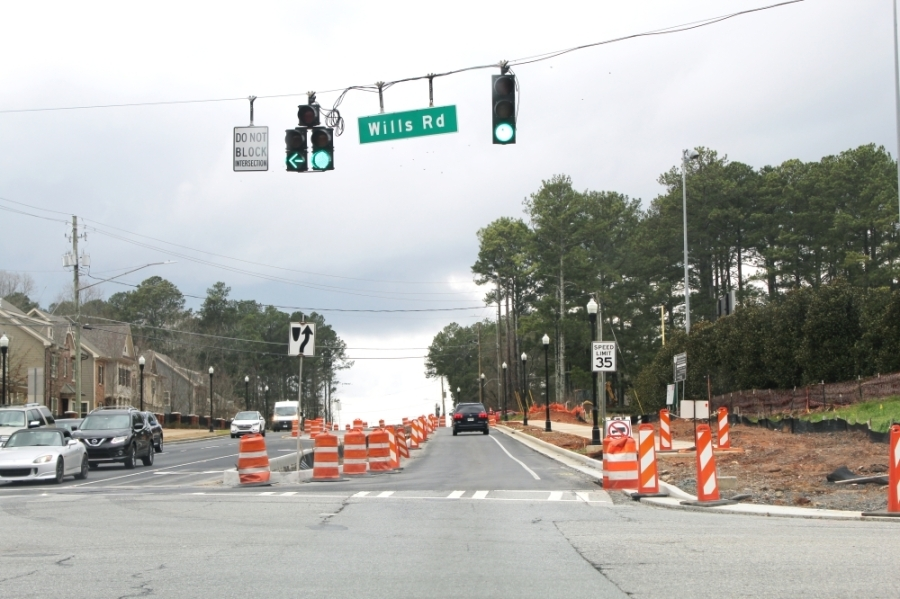 Construction on Rucker Road has been ongoing for about three years but is expected to wrap up this spring, city officials said. (Photos by Kara McIntyre/Community Impact Newspaper)