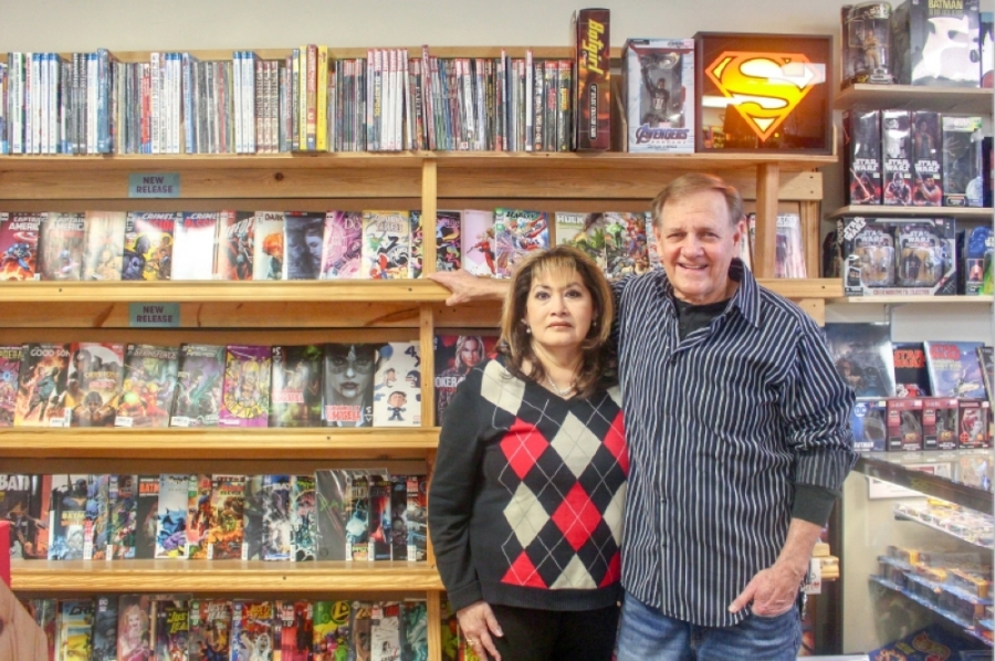 Brian and Diane Stuart opened Comic Relief in April 1989. (Evelin Garcia/Community Impact Newspaper)