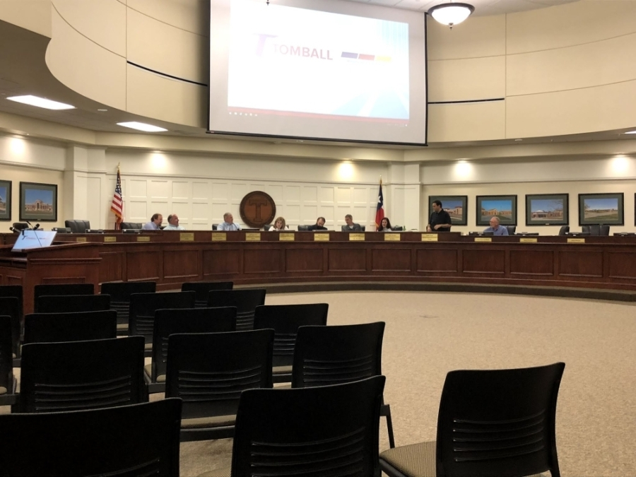 The Tomball ISD board of trustees held an emergency board meeting March 13 to discuss the district's response to the coronavirus outbreak. (Dylan Sherman/Community Impact Newspaper)