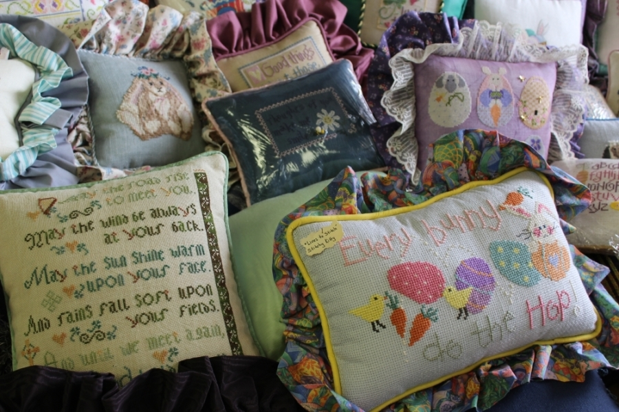 3 Stitches, a Spring-based embroidery shop, will celebrate 25 years of business April 4 at their location at 7822 Louetta Road, Spring. (Adriana Rezal/Community Impact Newspaper)