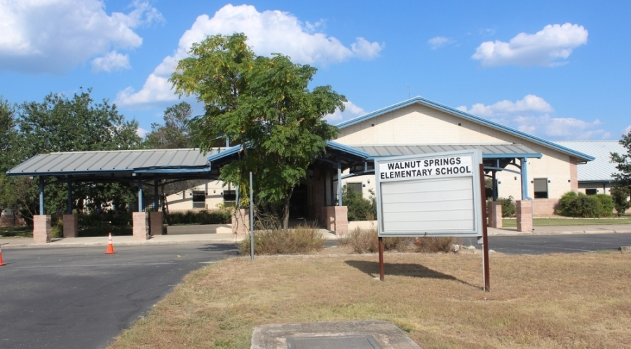 A photo of the exterior of Walnut Springs Elementary School