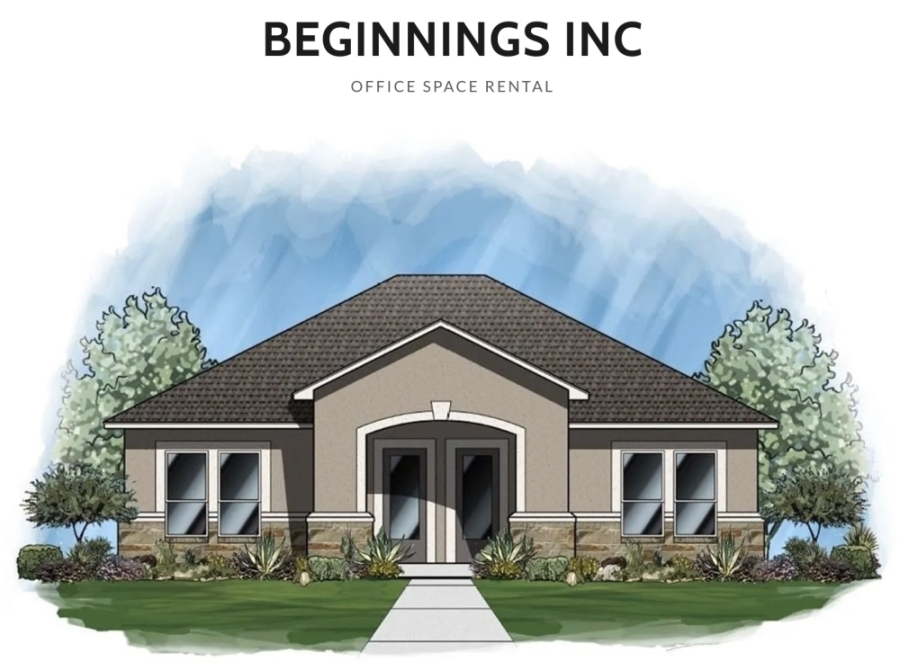 A new small office space rental business is under construction and plans to open in Leander in fall 2020. (Courtesy New Beginnings Inc.)