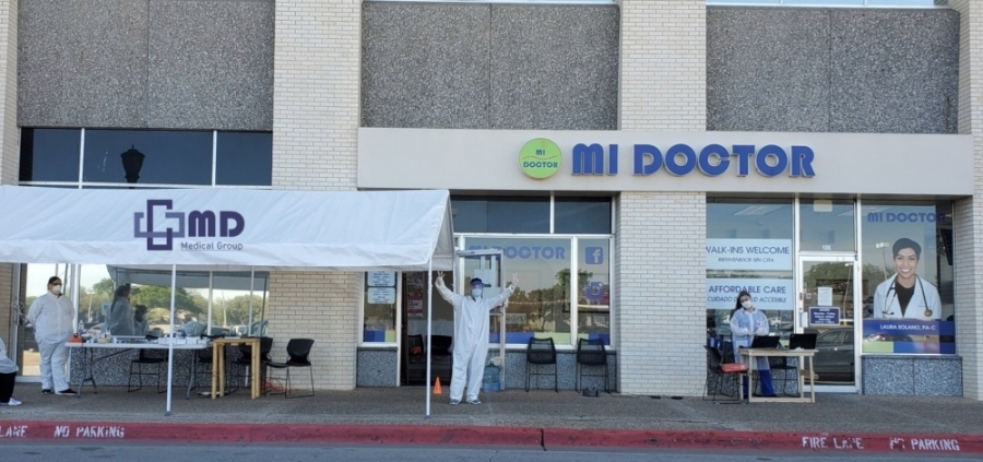 MD Medical Group now has drive-thru COVID-19 testing facilities at seven Dallas-Fort Worth locations. (Courtesy MD Medical Group)