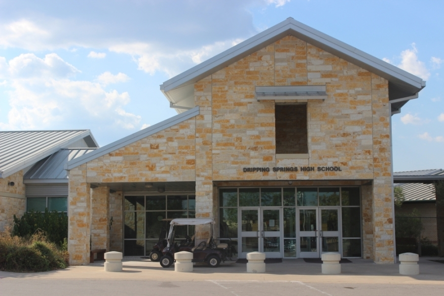 A photo of the facade of Dripping Springs High School