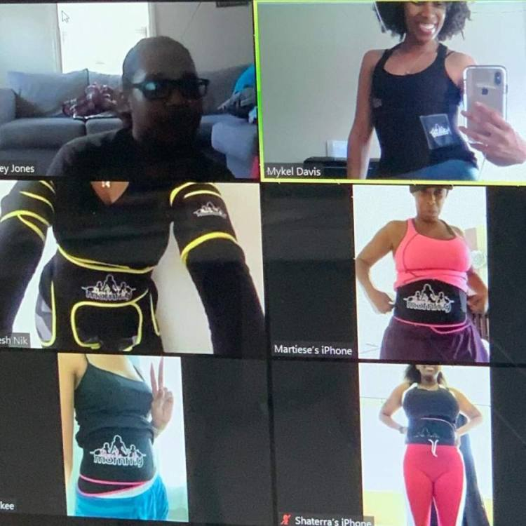 Muscle Up Mommy, Inc., a Spring-based fitness training and retail company, is now offering free virtual group training sessions for women via Zoom video conferencing. (Courtesy Muscle Up Mommy, Inc.)