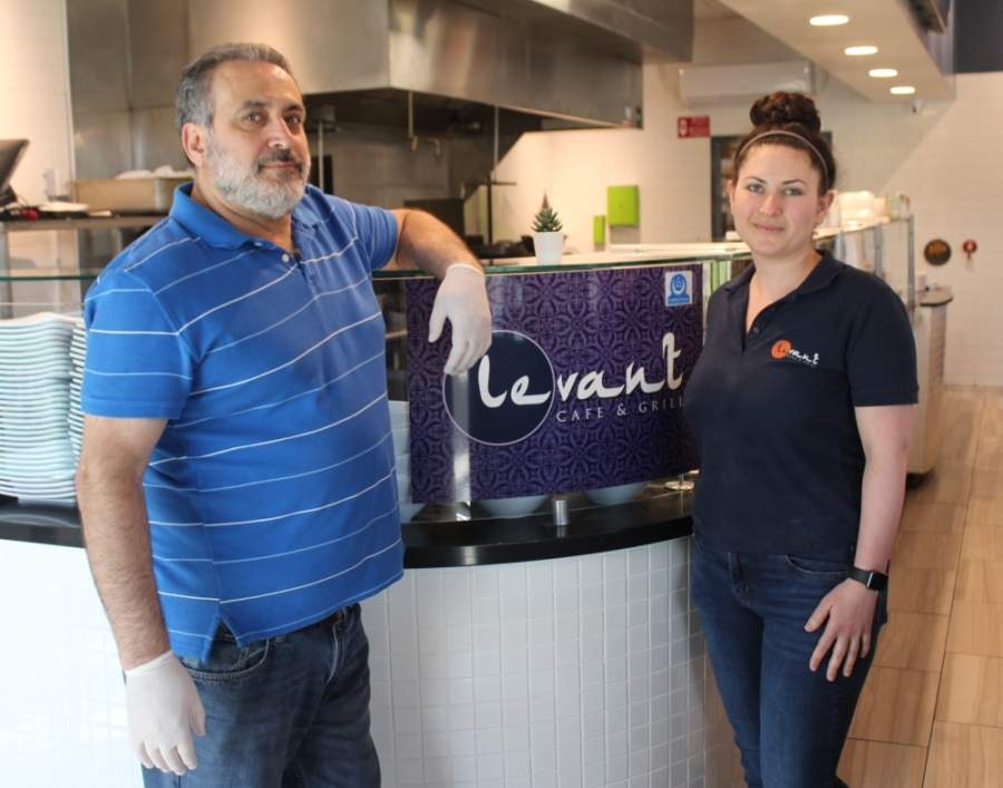 Levant Café and Grill is one of Cedar Park restaurants opening its dining room May 1. Owners Mike and Rana Boselah opened the restaurant in 2019. (Brian Perdue/Community Impact Newspaper)