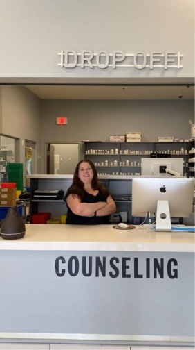 """Kynsi Hamilton said she finds compounding to be stimulating work. """"There's a lot of math involved in it and you're just constantly learning and a lot of problem solving, too,"""" she said."""
