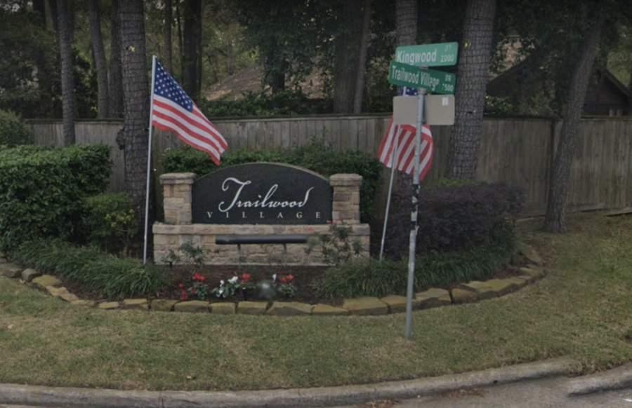 Trailwood Village in Kingwood includes 790 single-family homes. (Screenshot courtesy Google Earth)