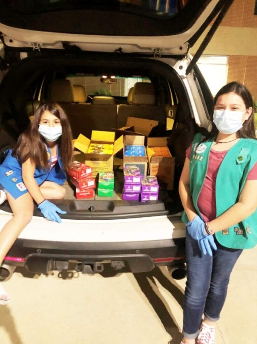 Amber and Aubrey Dominguez are some of the thousands of Girl Scouts who navigated new challenges in their cookie-selling endeavors this year. (Courtesy Girl Scouts of San Jacinto Council)