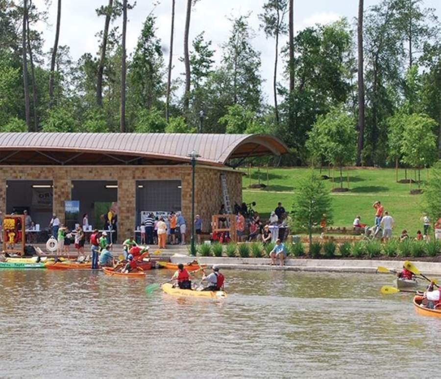 The Riva Row Boat House reopened for community rentals May 6. (Courtesy The Woodlands Township)