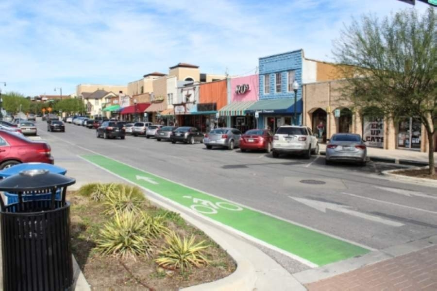 San Marcos City Council members approved an emergency ordinance May 5 that will allow businesses in downtown San Marcos to use parklets for commercial use. (Anna Herod/Community Impact Newspaper)