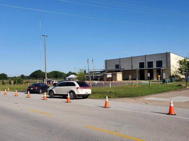 Waller County first hosted a mobile testing site April 26. (Courtesy Brian Cantrell/Waller County Office of Emergency Management)
