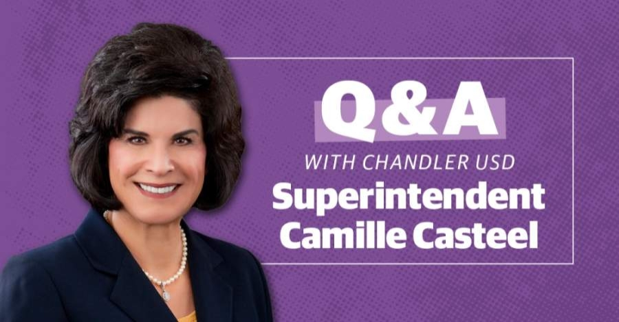 Superintendent Camille Casteel answered questions about how the school district is planning for its upcoming year. (Community Impact Newspaper staff)