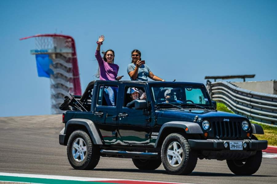 The Circuit of The Americas held a donation event for the Central Texas Food Bank on May 10 that allowed visitors to drive around the Formula 1 track. (Courtesy Circuit of The Americas)