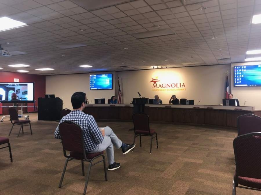 The Magnolia ISD board of trustees passed a resolution at a May 11 meeting moving the last day of school up from May 22 to May 20. (Dylan Sherman/Community Impact Newspaper)