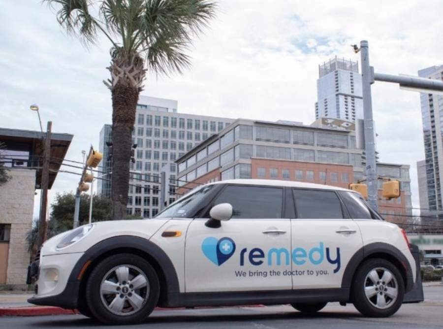 A photo of a car that says Remedy