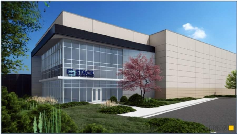 Stack Infrastructure will expand its existing data center in Alpharetta to add a two-story facility adjacent to the current facility. (Rendering courtesy Stack Infrastructure)