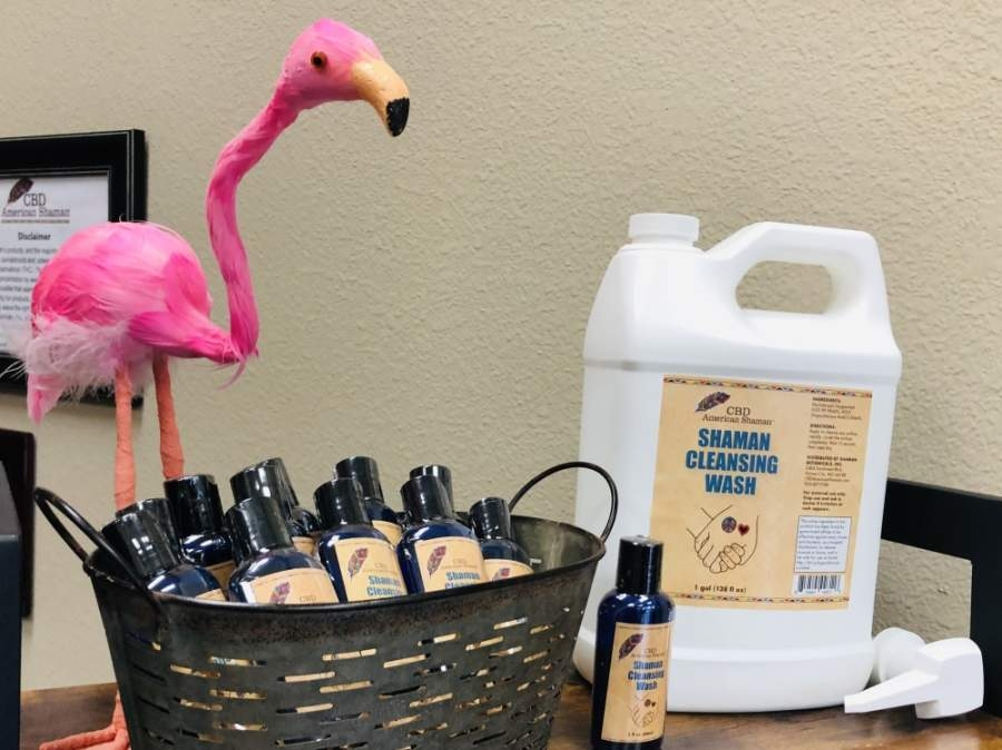 CBD American Shaman stores of Keller and North Keller are offering a hand cleansing wash for customers concerned about COVID-19. (Ian Pribanic/Community Impact Newspaper)