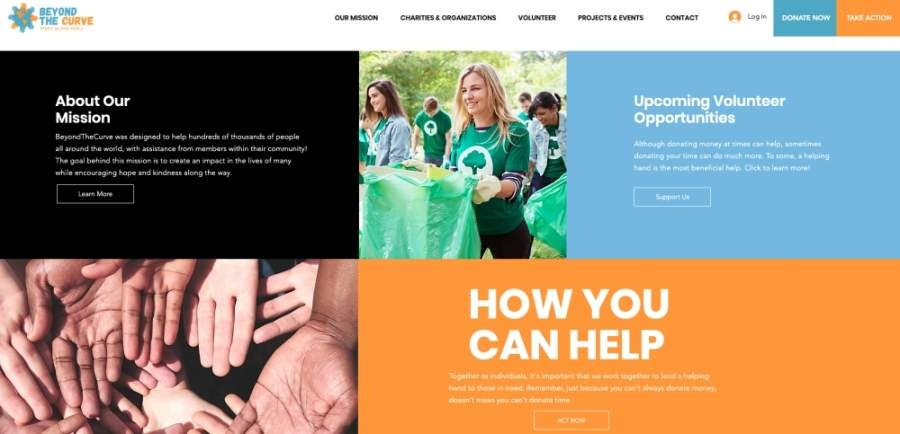 A local McKinney business owner has launched BeyondTheCurve, a website to connect the community with ways to help during COVID-19. (Screenshot by Miranda Jaimes/Community Impact Newspaper)