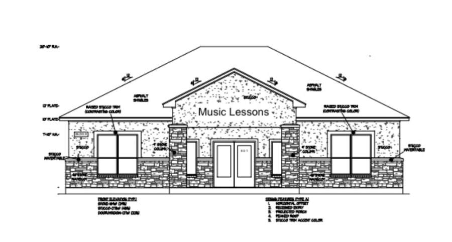 HitMaker Music school to relocate lessons from Cedar Park to Leander in August. (Rendering courtesy HitMaker Music School)