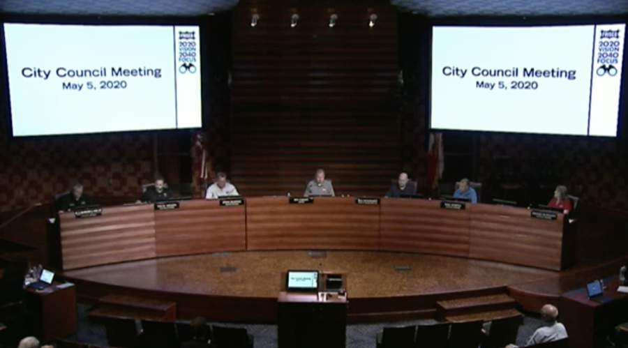 Frisco City Council will hold a work session at 4 p.m. following by its regular meeting at 5 p.m. in the council chamber of the George A. Purefoy Municipal Center on May 19. (Screenshot courtesy city of Frisco)