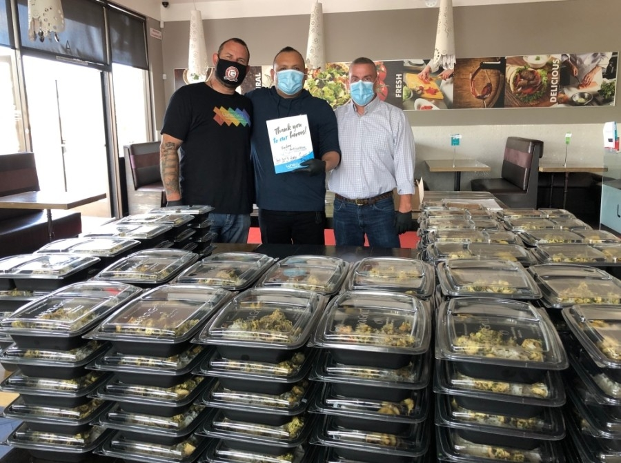 Luna Grill has also donated hundreds of meals to Methodist Richardson Medical Center among other hospitals. (Courtesy Luna Grill)