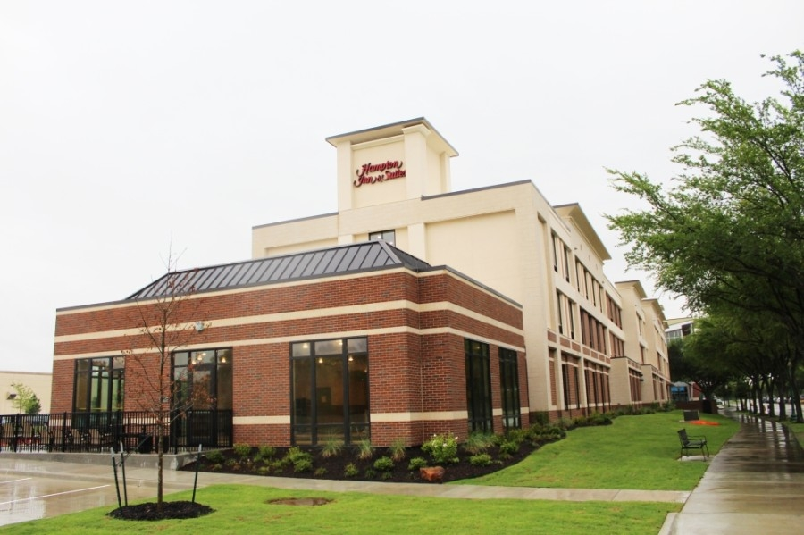 The city of Keller's first hotel, a Hampton Inn & Suites, is expected to open May 28. (Ian Pribanic/Community Impact Newspaper)