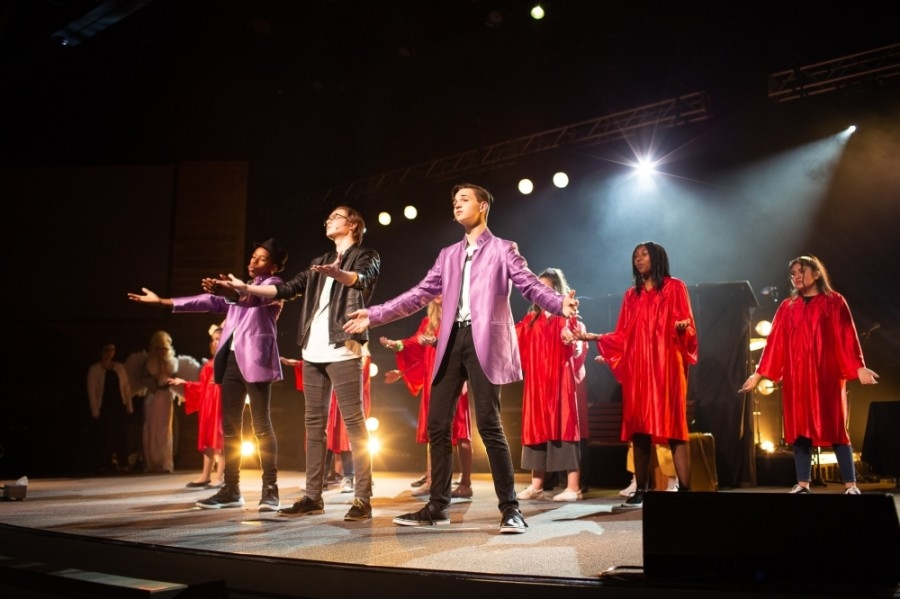During Stand Performing Arts summer camps, students learn choreography and other aspects of a production in order to perform a show for a full audience. (Courtesy Stand Performing Arts Ministries)