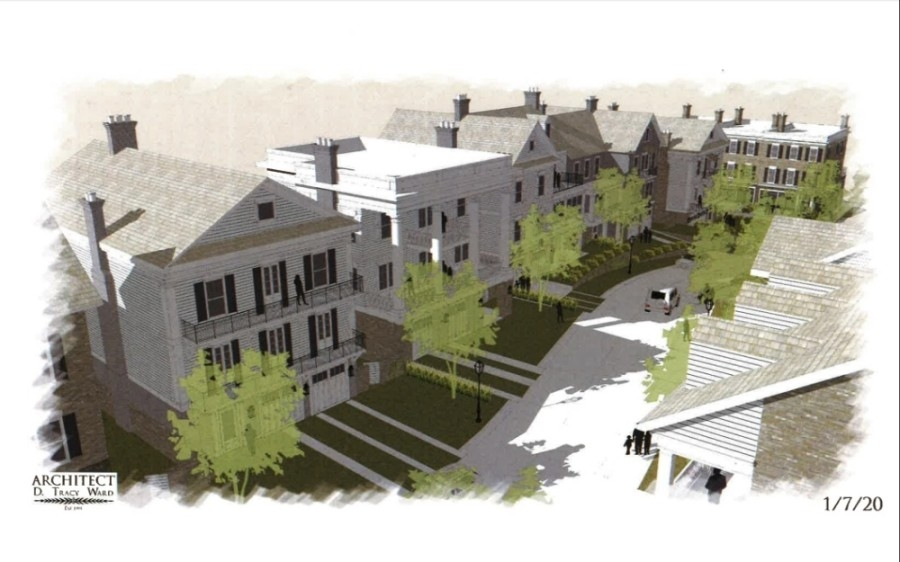 A new residential development is coming to the north side of Thompson Street in Alpharetta and west of Westside Parkway. (Rendering courtesy city of Alpharetta)