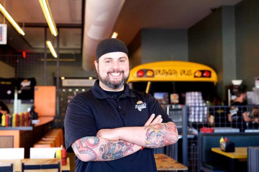 Justin Turner, owner of Bernie's Burger Bus